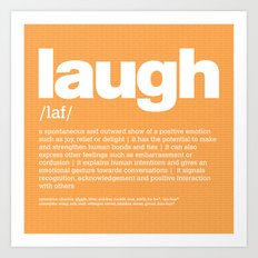 definition LLL - Laugh Art Print