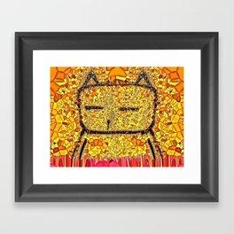 Sunbathing Cat Framed Art Print