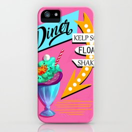 Limited Edition Undersea Mermaid Diner Poster! iPhone Case