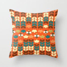 Happy workers Throw Pillow