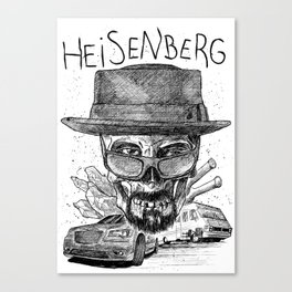 Heisenberg. I'm the one who knocks. Canvas Print