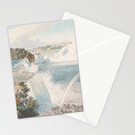 Vintage Illustration of Niagara Falls (1845) Stationery Cards