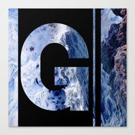 Monogram G Canvas Print