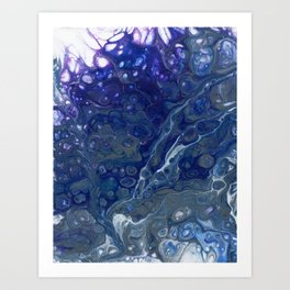 Cool Tone Splash Art Print