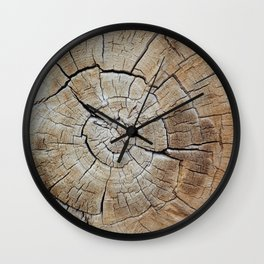 Tree rings of time Wall Clock