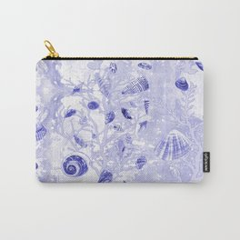 Shells - Deep Blue - Casart Sea Life Treasures Collection Carry-All Pouch