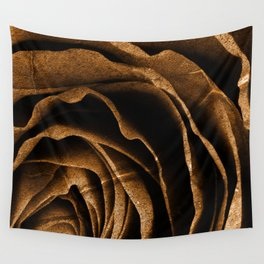 Sepia Grunge Rose Wall Tapestry