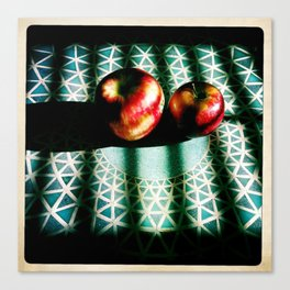 A Beautiful Still Life of Apples in Sunlight, 2011 Canvas Print
