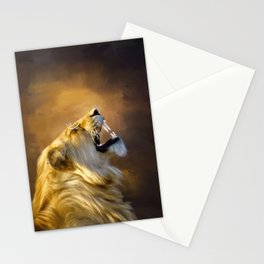Roaring lion portrait Stationery Cards