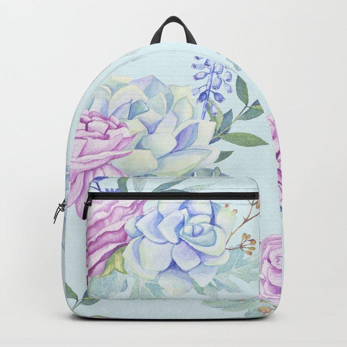 Pastel Succulents 2 #society6 #buyart Backpack