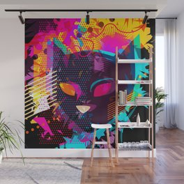 Popart Cat Colorful Abstractart Kitten Mom Gift Wall Mural