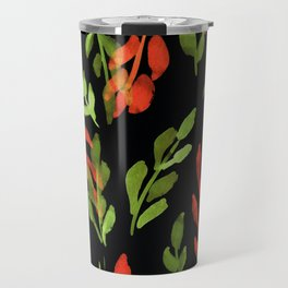 180726 Abstract Leaves Botanical Dark Mode 1 Travel Mug