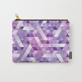 Puple Geo Dimension Carry-All Pouch