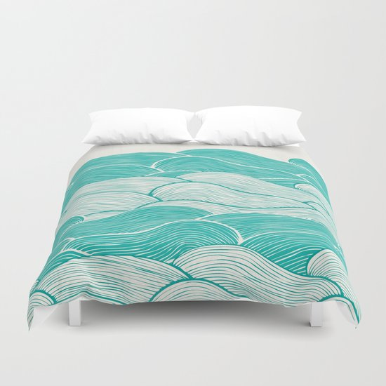 The Calm and Stormy Seas Duvet Cover