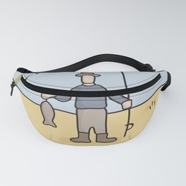 Beavid and Butthead Fisherman picture Fanny Pack