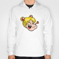 popeye Hoodies featuring Popeye the Sailor Moon by unluckyxiii
