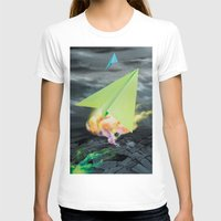 planes T-shirts featuring Paper planes by VikaValter