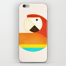 Round Bird - Macaw iPhone & iPod Skin