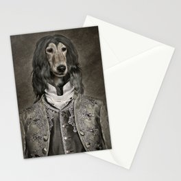 Afghan hound wearing a Louis XIV suit Stationery Cards
