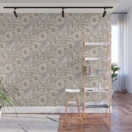 Party Critters in Cream ( leafy sea dragon in cream and coral ) Wall Mural