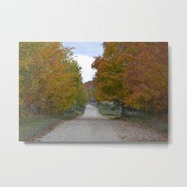 Fall Country Road Metal Print