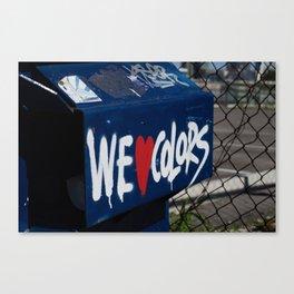 We Love Colors Canvas Print