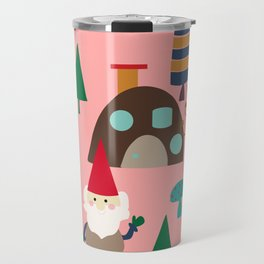 gnome pink Travel Mug
