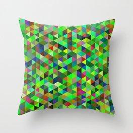Cute colorful green mosaic Throw Pillow