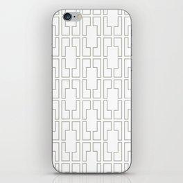 Simply Mid-Century Retro Gray on White iPhone Skin