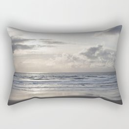 Silver Scene ~ Paint Daubs Effect Rectangular Pillow