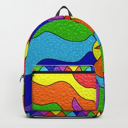 Stained Glass Unicorn Backpack
