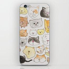cats art print, cat lover gift iPhone Skin
