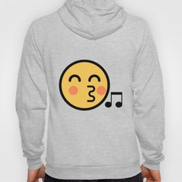 Smiley Face   Cute Kissing Music Note Smiling Happy Face Hoody