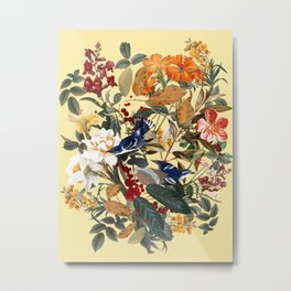 Floral and Birds XXIX Metal Print