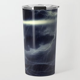Stormy Sea and Lighthouse Travel Mug
