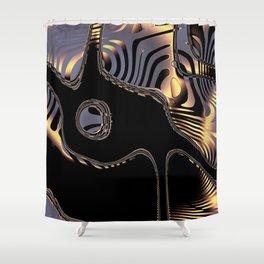 Elegant Black Fractal 3 Shower Curtain