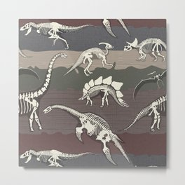 Dinosaur's Dig Metal Print