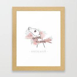 Boops Not Bombs - Snek 2016 Framed Art Print