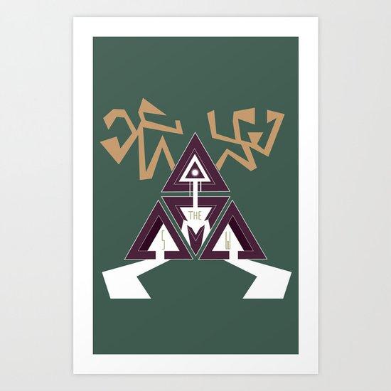 Shelter The Weak Triangles Art Print