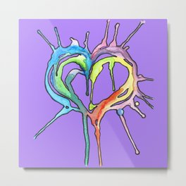 Watercolor Heart III Metal Print