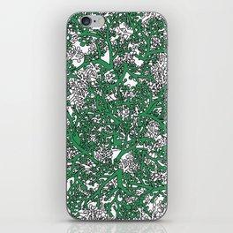 Green and White Camo iPhone Skin