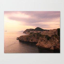 Dubrovnik at Sunset Canvas Print