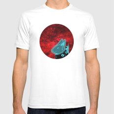 Space Rabbit Mens Fitted Tee MEDIUM White