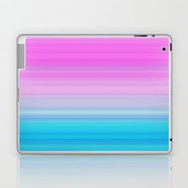 Pink & Aquamarine Blue Stripes Laptop & iPad Skin