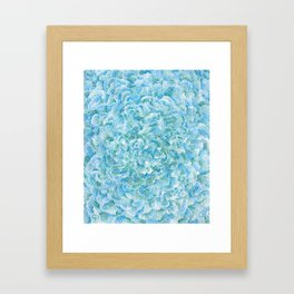 blue and green bubbles Framed Art Print