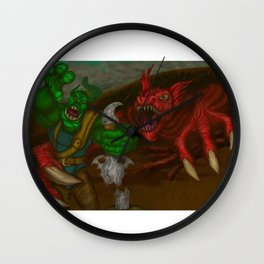 Dragon, Snack Time Wall Clock