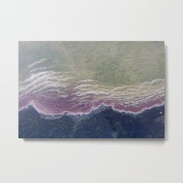 Abstract Hot Spring Metal Print