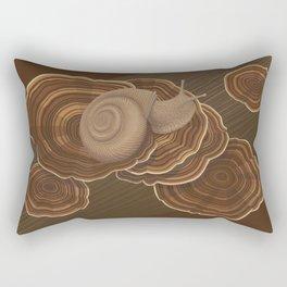 Forestsnail on Fungus Rectangular Pillow