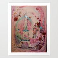 Ahhh Paris Art Print