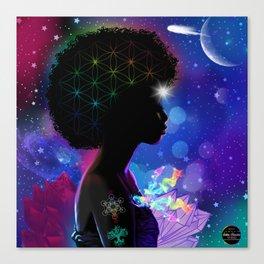 Cosmic Goddess Heart Chakra Canvas Print